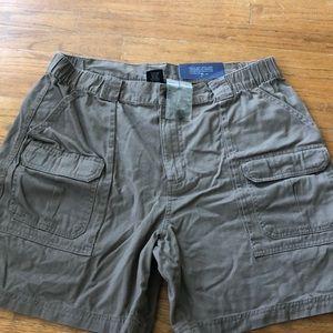 Men's brown cargo shorts Croft and Barrow